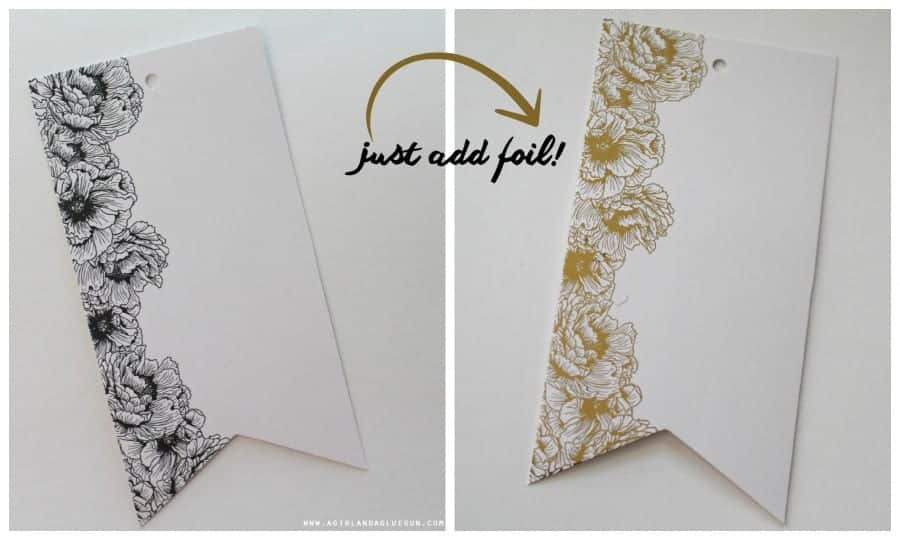 just add gold foil!