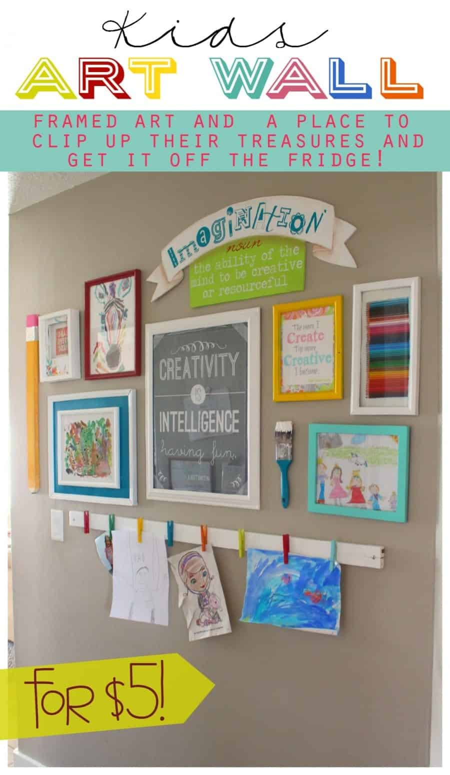kids artwall easy diy to get your kids art off the fridge