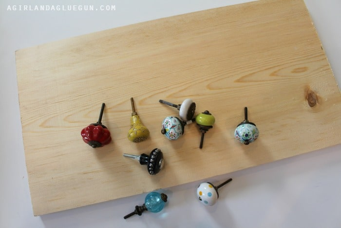 knobs and wood for apron rack
