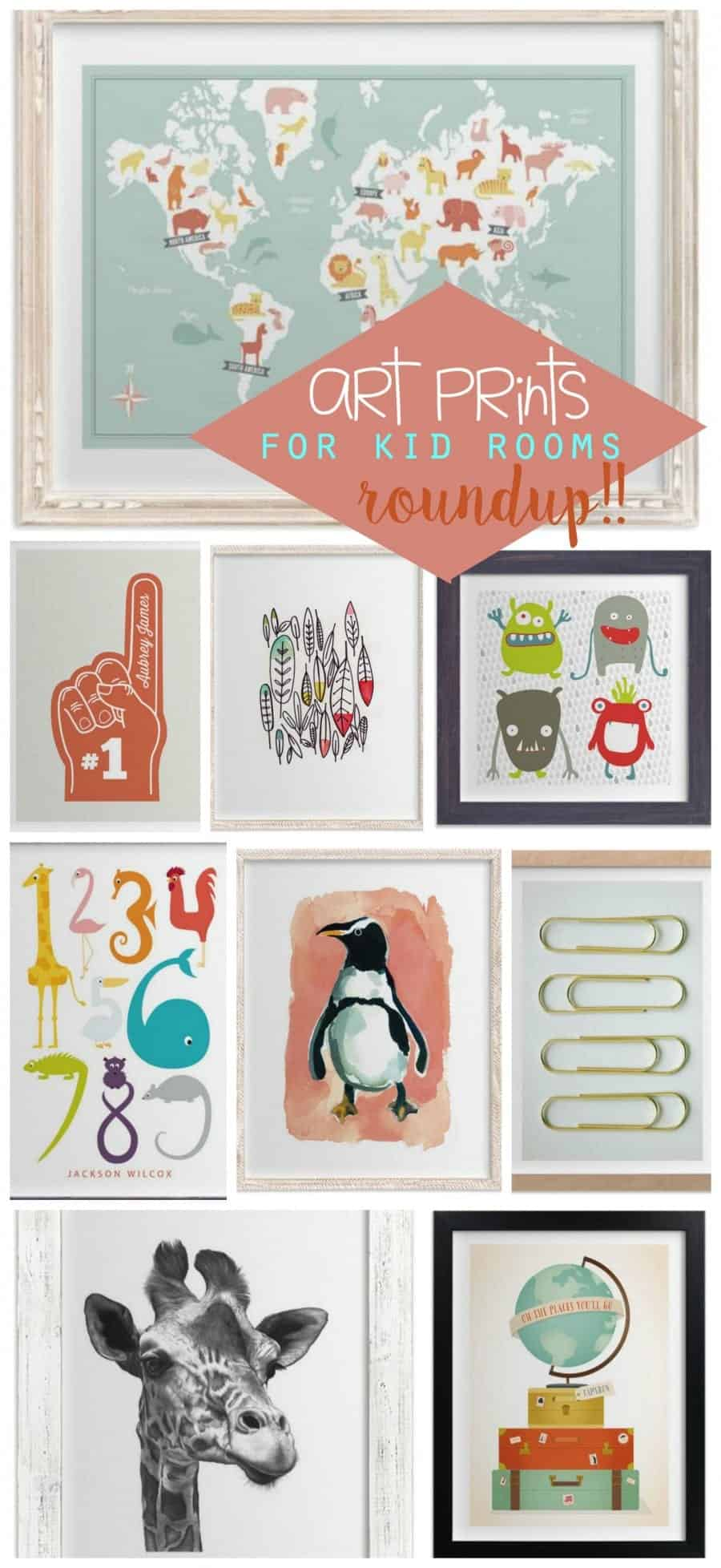 over 20 of my favorite art prints for kid rooms!