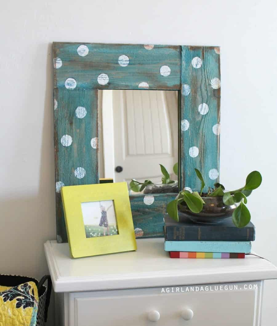 polka dot mirror how to