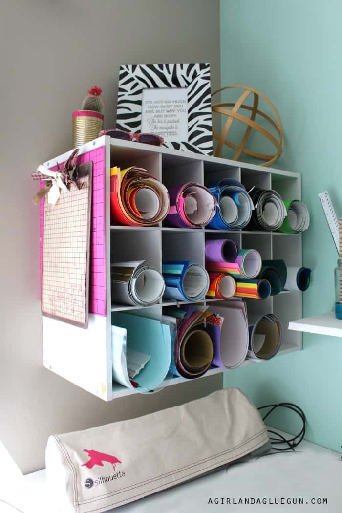 shoe organizer for vinyl