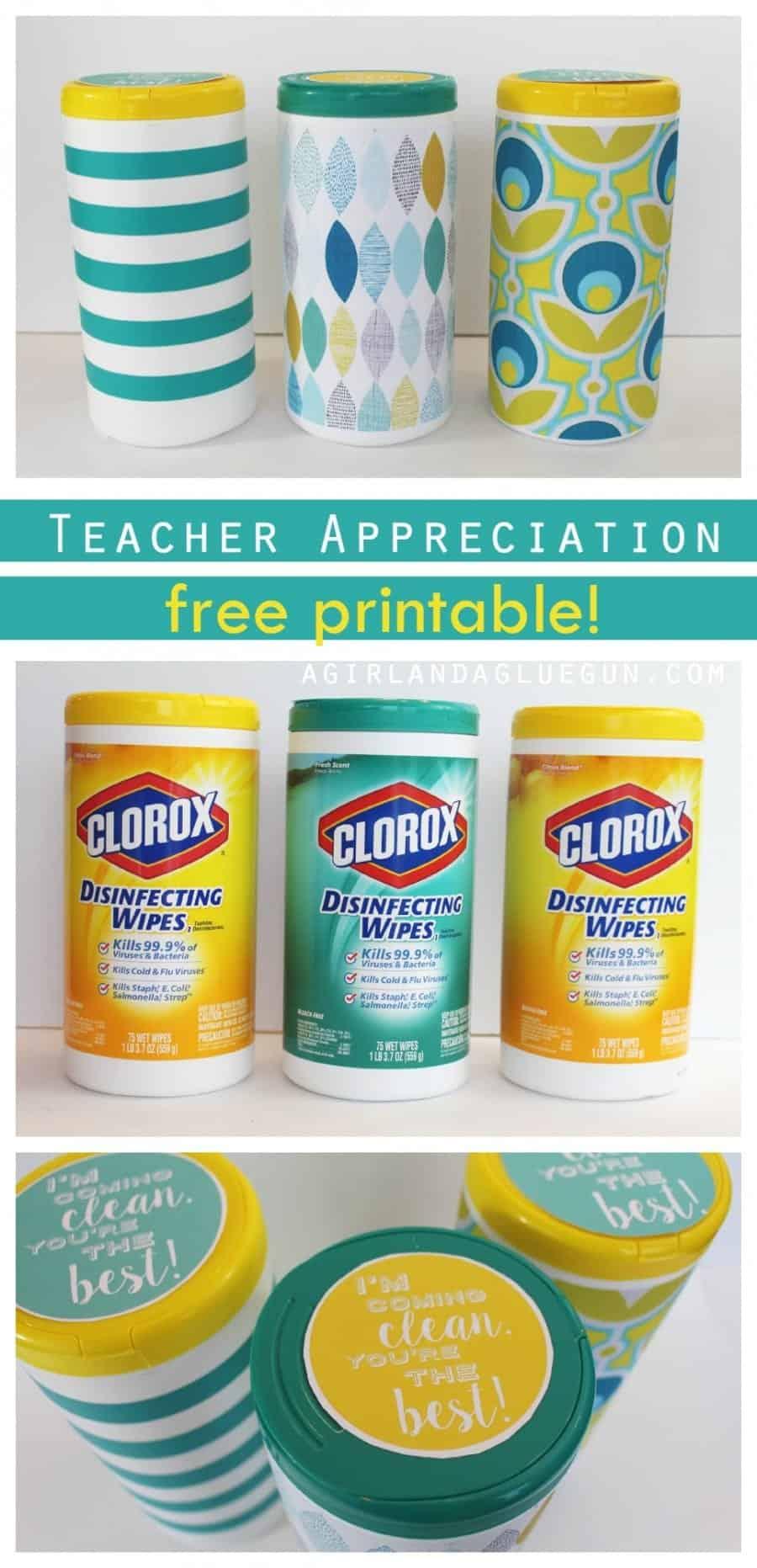 teacher appreciation free printable gift