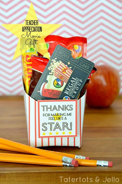 teacher-appreciation-movie-gift-at-tatertots-and-jello & 4 gifts that teachers ACTUALLY want (told by teachers!) - A girl and ...