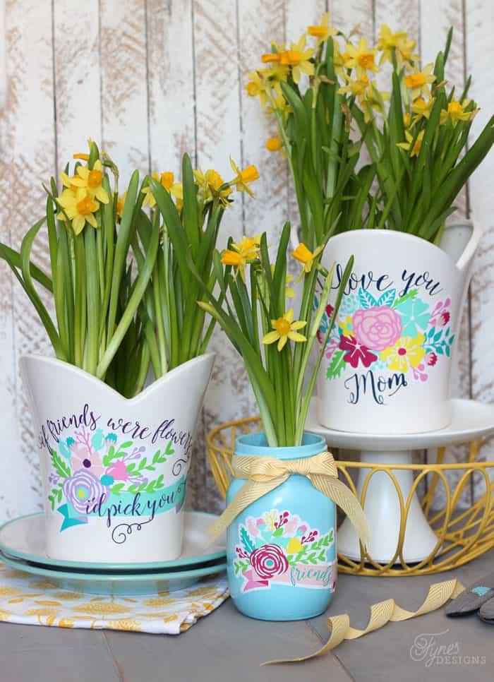 vinyl-flowers-plant-pots