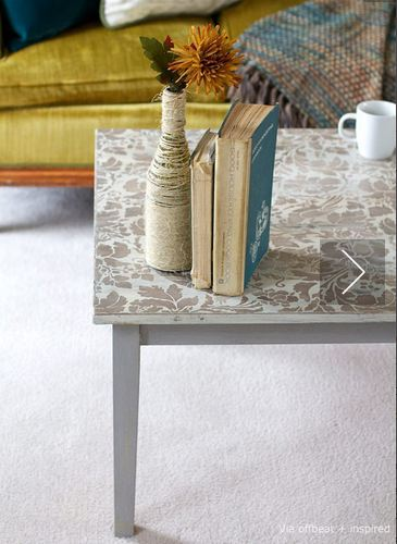 coffee table stenciled