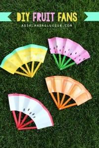 diy fruit fans –a fun kids crafts