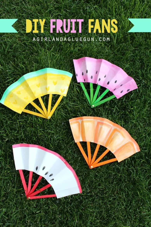 crafts fun diy fruit summer craft fans glue gun agirlandagluegun paper easy cool arts during room fan quick super cute