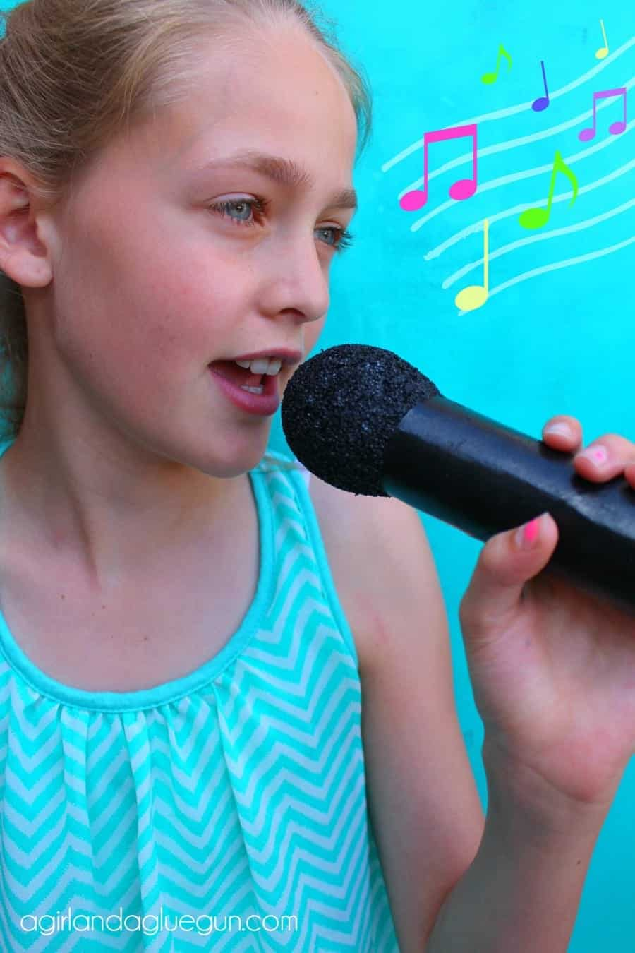 fake microphone kid craft diy
