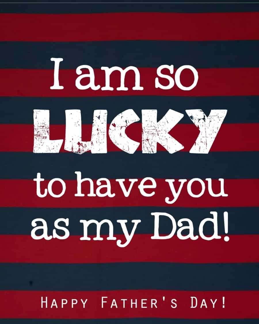 father's day lucky printable