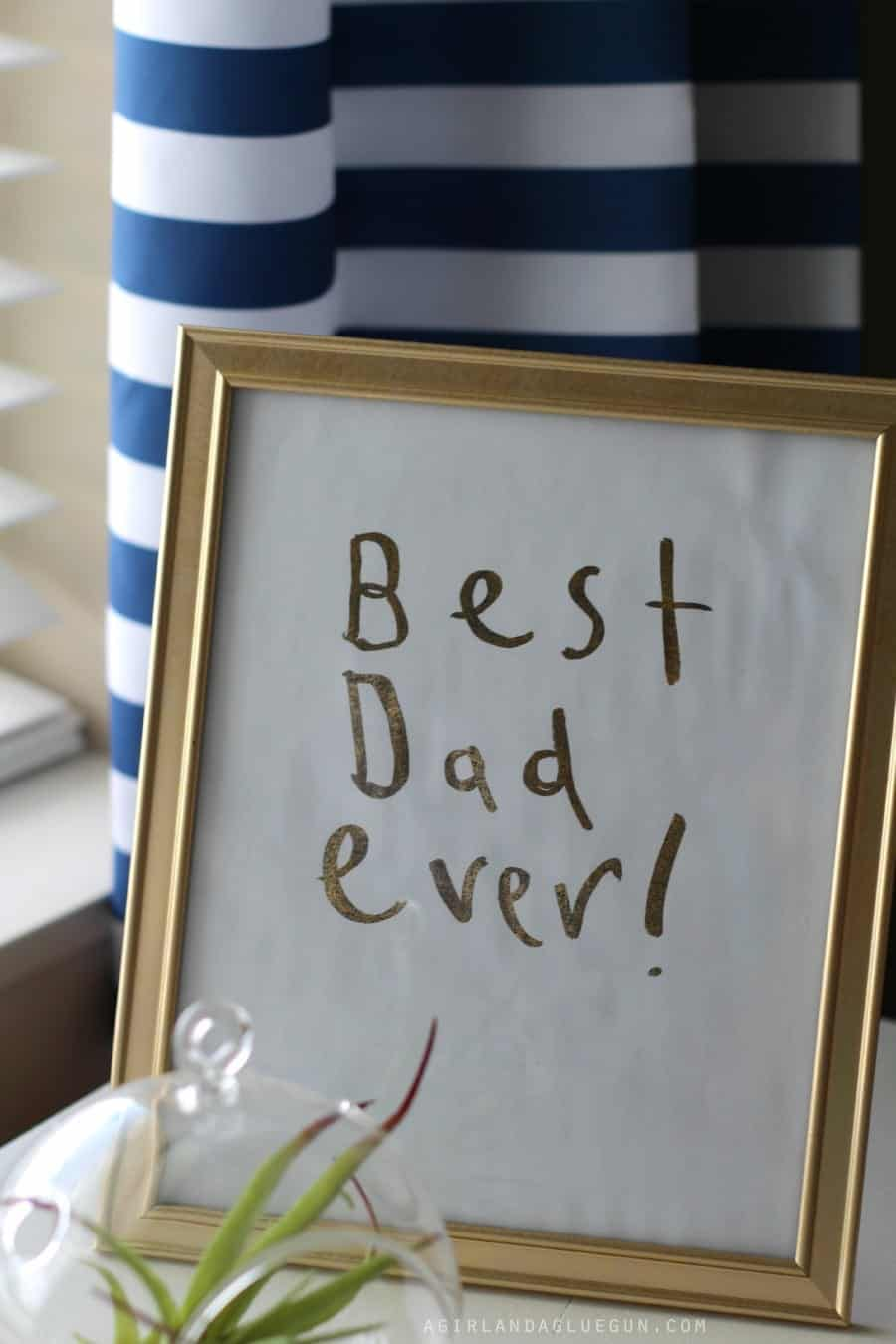 fathers day personalized foil print