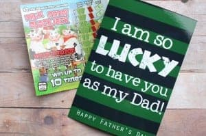 Lucky father's day printable