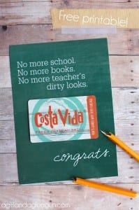 free graduation printable with gift card