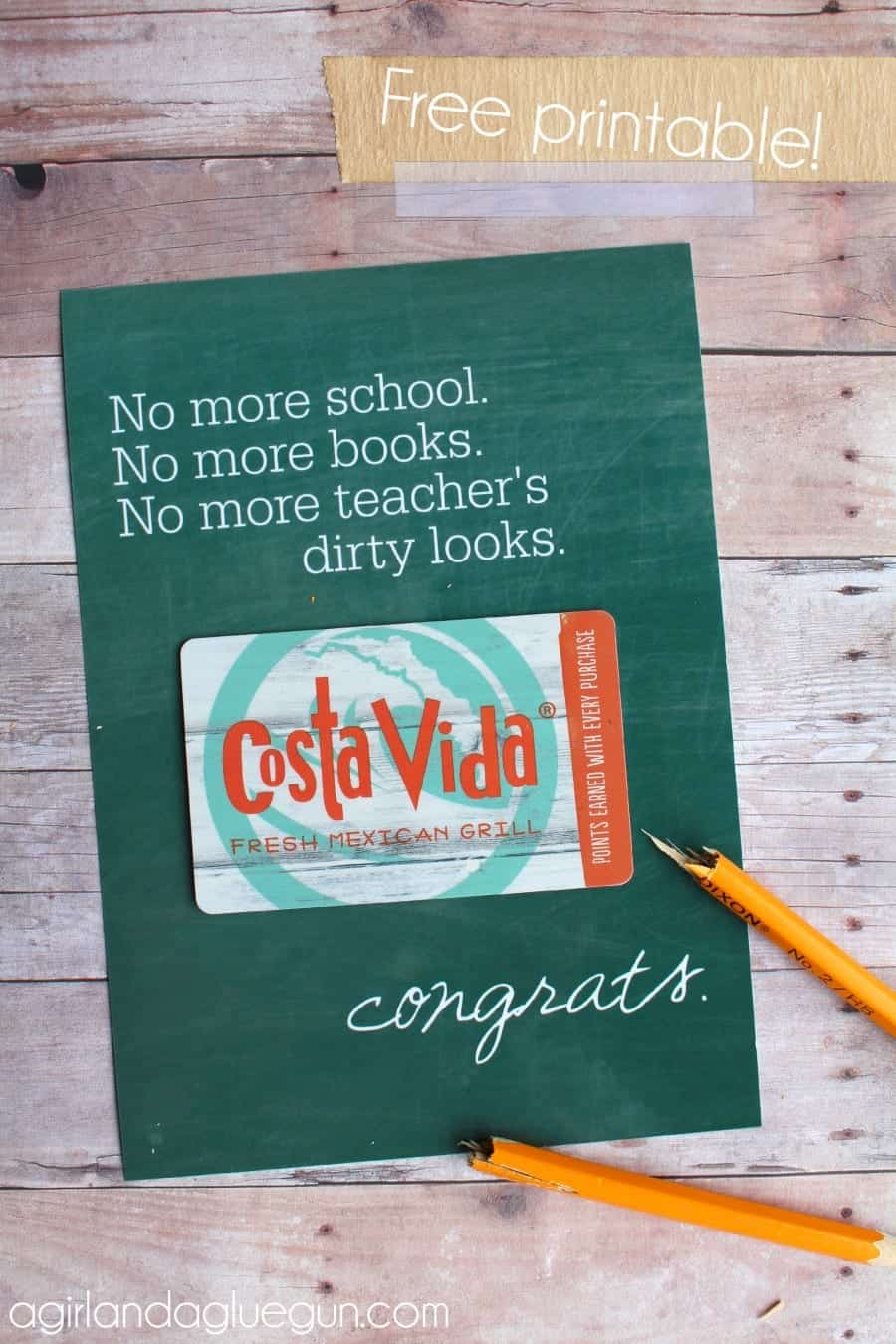 picture relating to Free Graduation Printable identified as Totally free commencement card printable! - A female and a glue gun