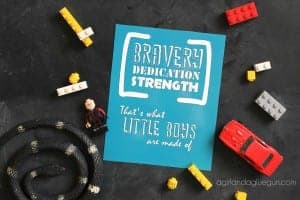 What little boys are made of! (free printable)