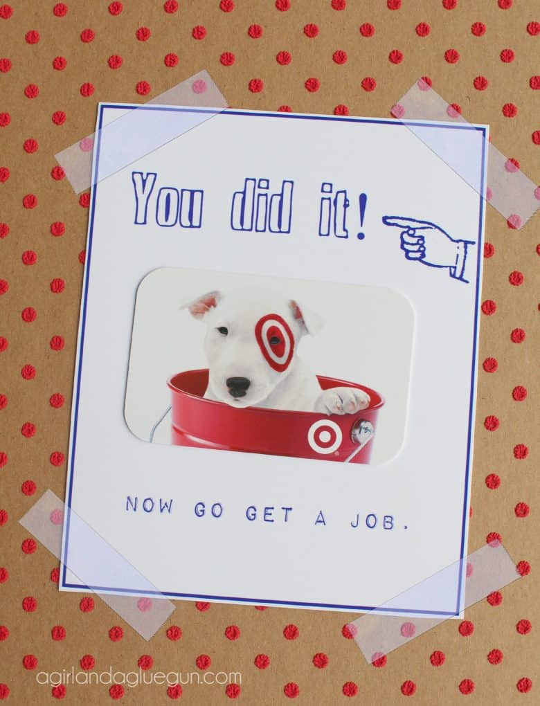 Free Graduation Card Printable A Girl And A Glue Gun