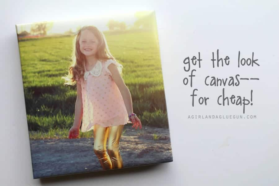 get the look of canvas for cheap using a shoe box lid