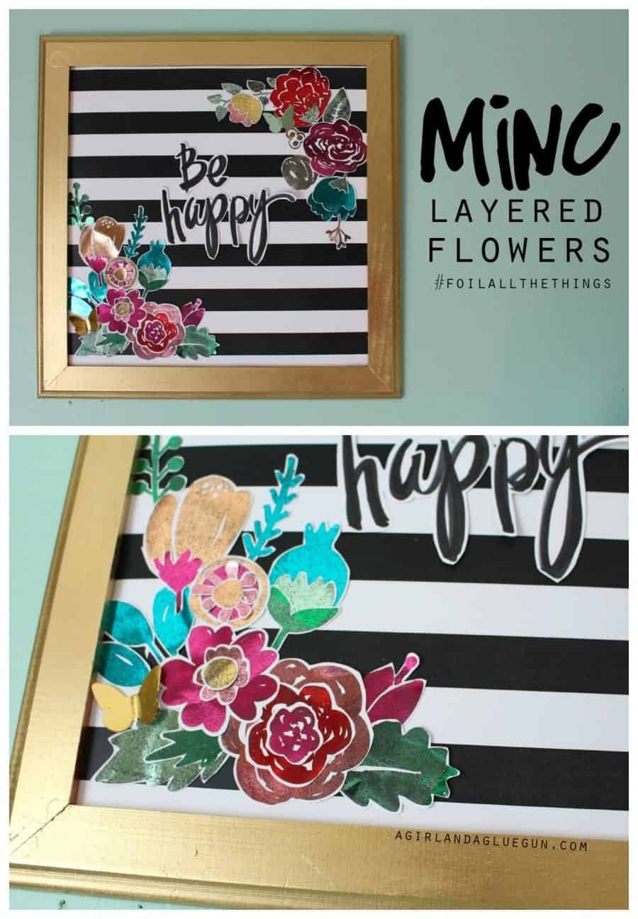 minc layered flowers foil