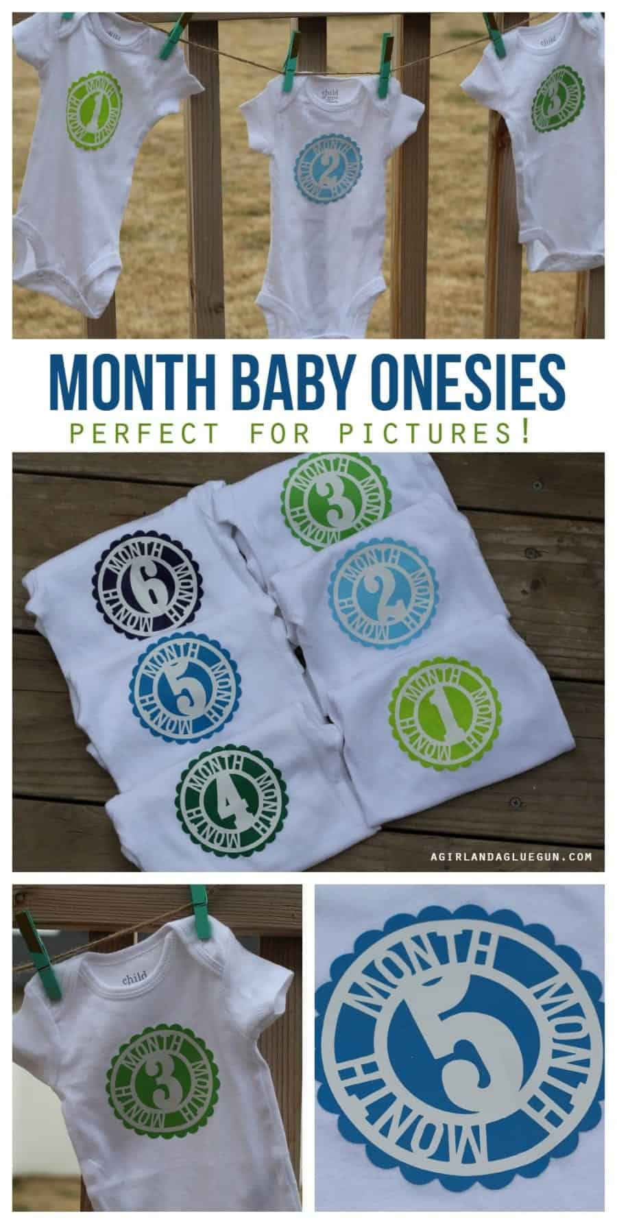 month by month baby onesies. perfect for photo ops