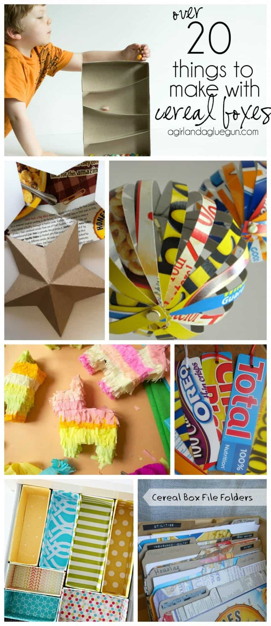 over 30 things to make with cereal boxes