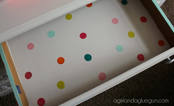 polka dot drawer