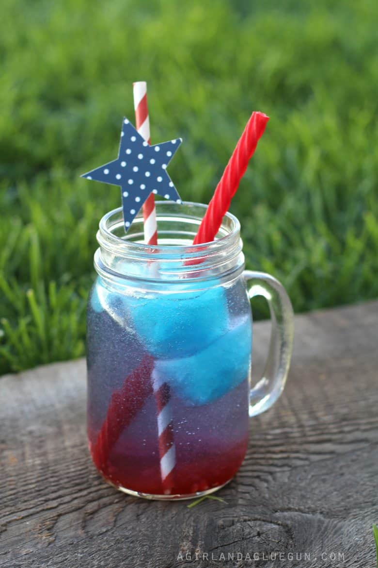 4th Of July Drinks Red White Blue Series Via A Girl And A