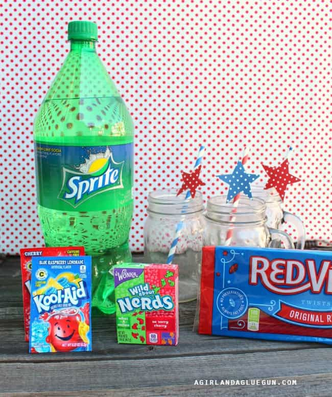supplies for independence day drink