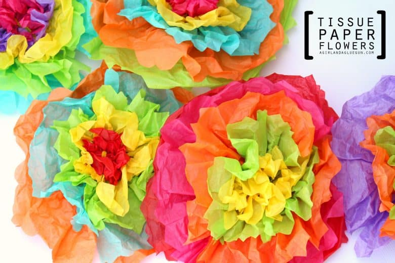 Tissue Paper Flowers A Girl And A Glue Gun