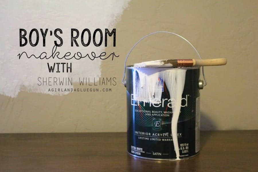 boys room makeover with sherwin williams