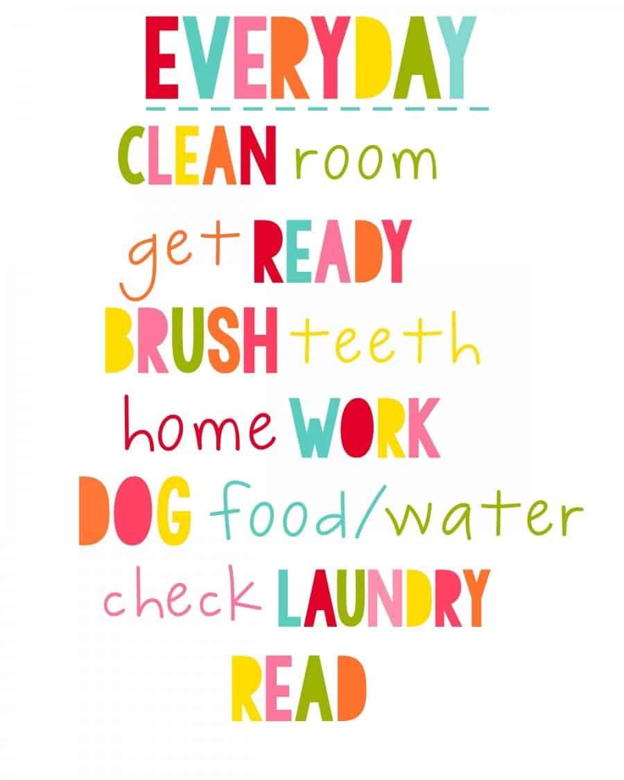 everyday chores