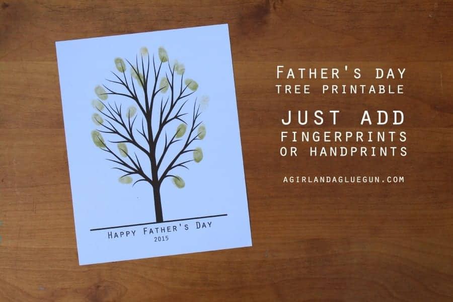 free father's day printable fingerprint tree
