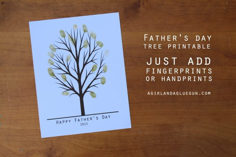 father u0027s day handprint tree a and a glue gun