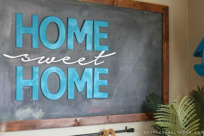 home sweet home chalkboard