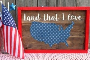 Fourth of July patriotic sign!