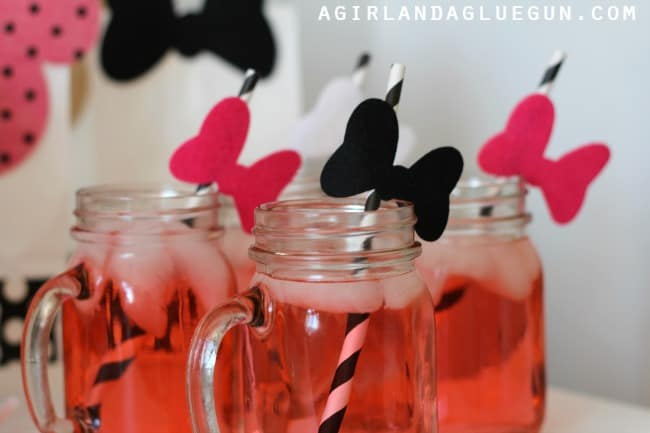 minnie mouse bow straws