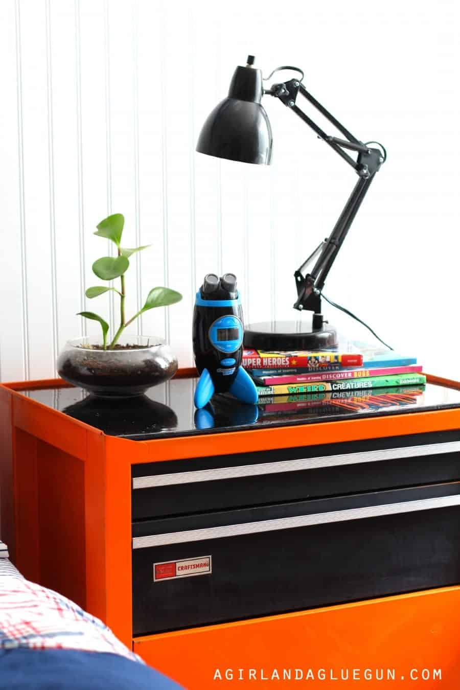 night table or stand for little boys room upcycle