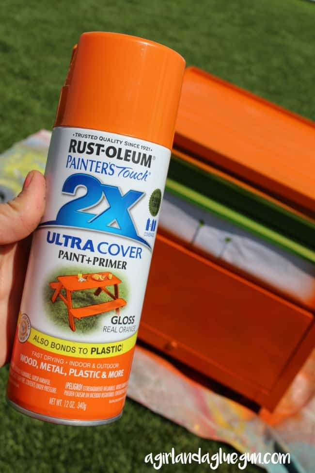 orange rustoleum spray paint