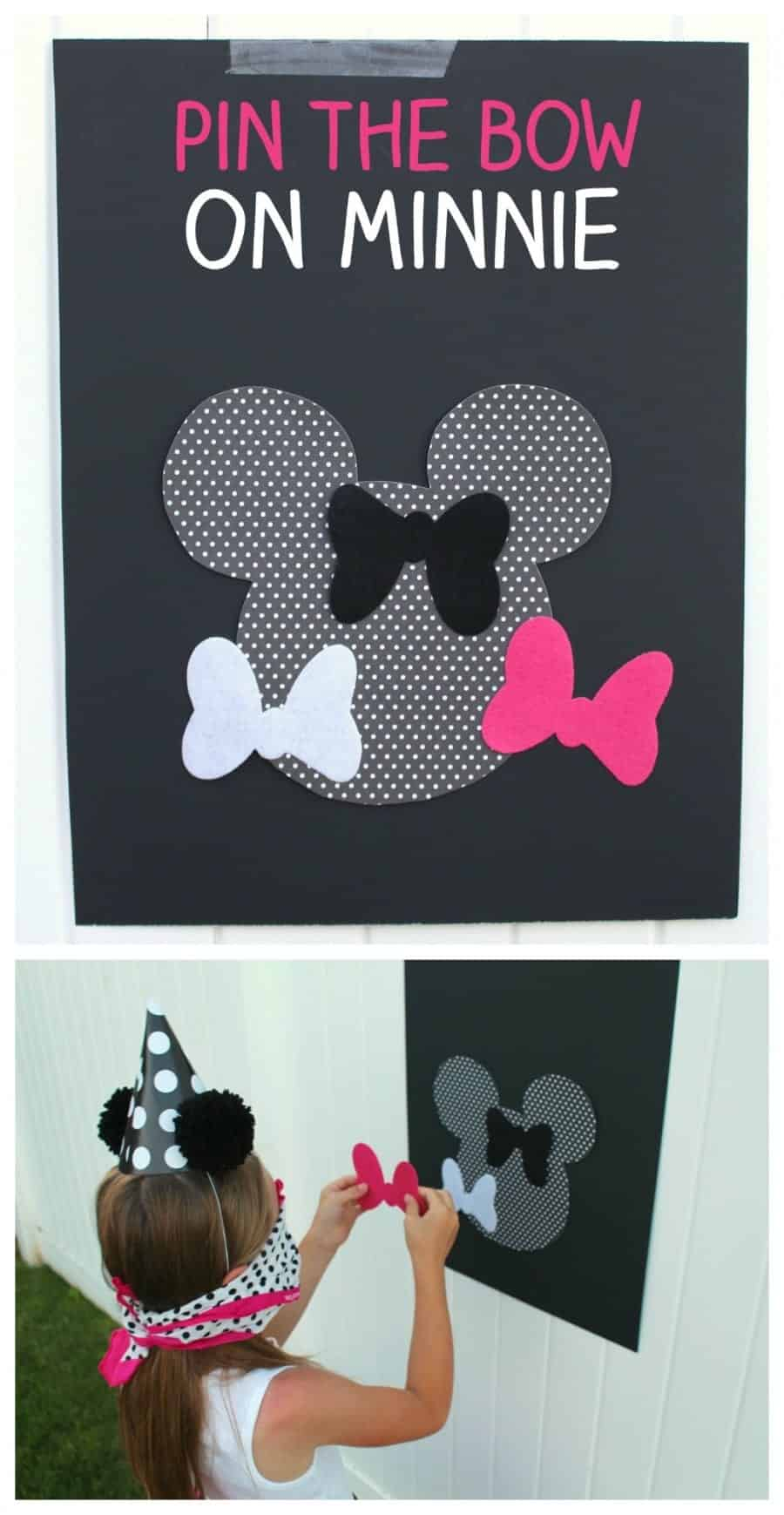 pin the bow on minnie mouse party game