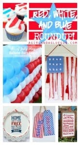 red white and blue patriotic 4th of July roundup