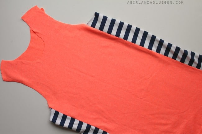 sew on stripes to the sides