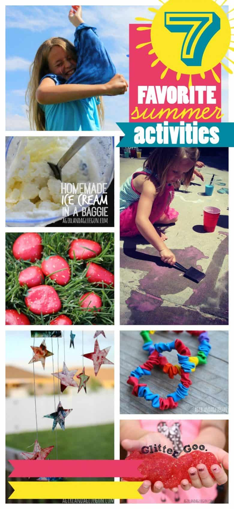 top 7 of our favorite summertime games, crafts and activities--