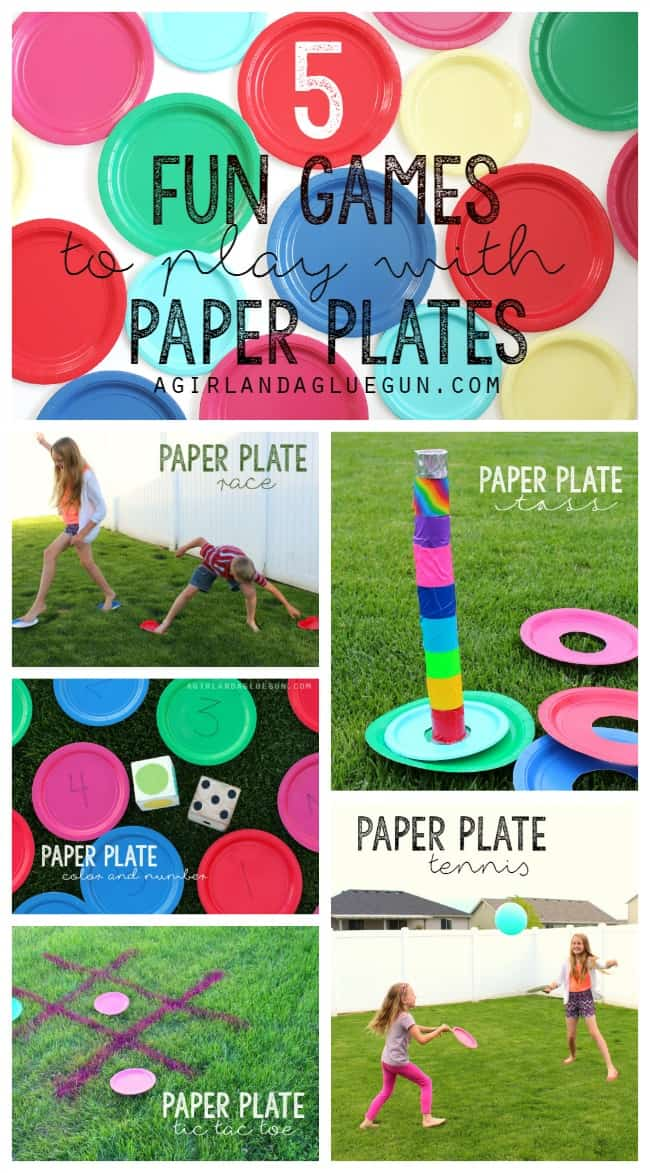 5 easy and fun games to play with Paper Plates! Great summer activities!