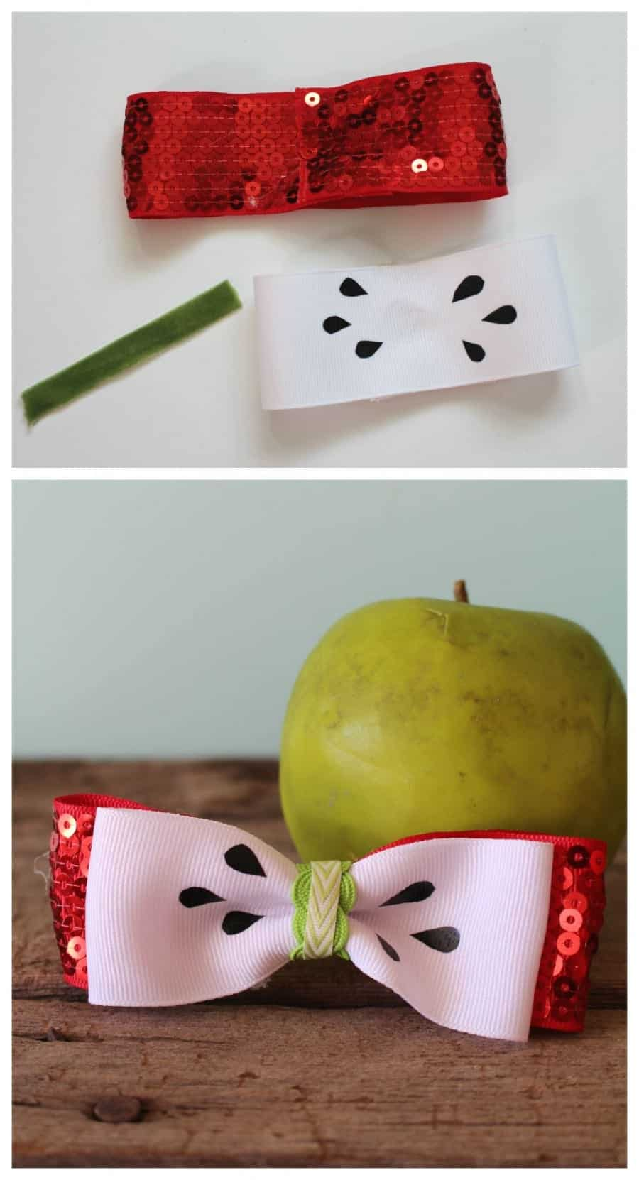 apple hair bow how to