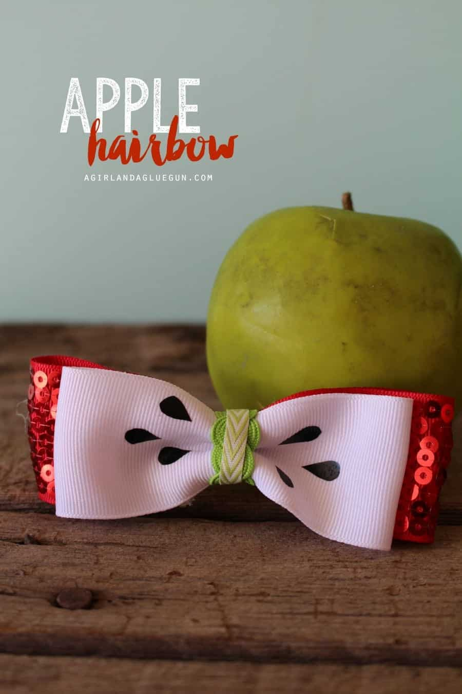 apple hairbow