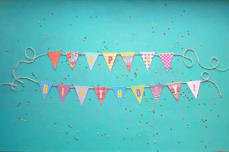 Printable Birthday Banner ~ Birthday banner printables a girl and a glue gun