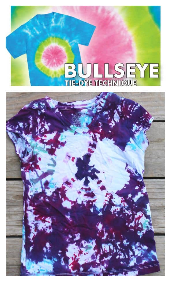 bullseye tie dye technique