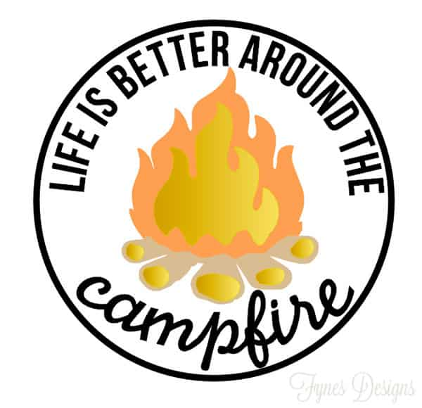 campfire-bumper-sticker