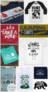 camping T-shirt roundup