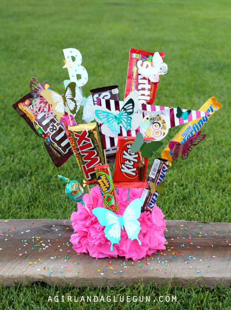 Birthday Bouquet Of Candy A Girl And A Glue Gun