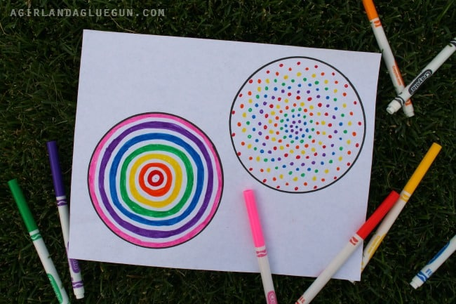 DIY Paper Spinner Circles